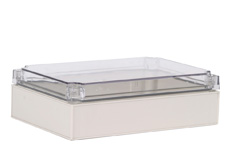 DSE Hi Box 250mm x 175mm x 75mm Enclosure Grey ABS Base & Transparent Polycarbonate Lid