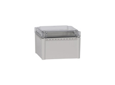 DSE Hi Box 190mm x 190mm x 130mm Enclosure Grey ABS Base & Transparent Polycarbonate Lid