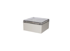 DSE Hi Box 200mm x 200mm x 130mm Enclosure Grey ABS Base & Transparent Polycarbonate Lid
