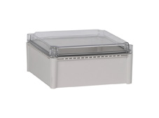 DSE Hi Box 280mm x 280mm x 130mm Enclosure Grey ABS Base & Transparent Polycarbonate Lid