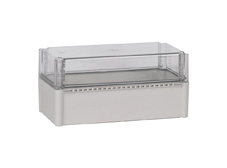DSE Hi Box 380mm x 190mm x 180mm Enclosure Grey ABS Base & Transparent Polycarbonate Lid
