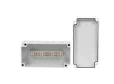 DSE Hi Box 100mm x 200mm x 70mm Terminal Block Box Grey ABS/Polycarbonate Base & Lid.