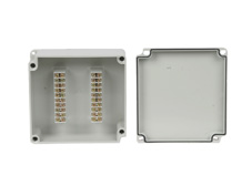 DSE Hi Box 170mm x 160mm x 70mm Terminal Block Box Grey ABS/Polycarbonate Base & Lid.