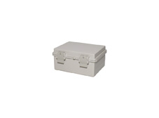 DSE Hi Box 200mm x 150mm x 100mm Draw Latch Enclosure Grey Polyester Base & Lid.