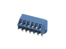 2 pole PCB 35 degree Terminal block with wire protection