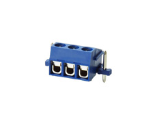 3 pole PCB Terminal block with wire protection