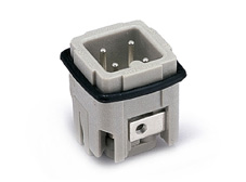 Wain 3 Pole + Earth Male Socket Insert. 230/400V 10A