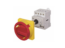 Main switch, 4pole, 20A, 7.5kW,w.door clutch kit