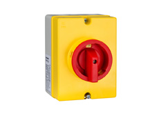Repair switch., Em. Stop main switch. 3 pole, 20A, 5,5kW, IP66
