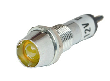 Recessed Chrome Indicator Yellow Led 12V