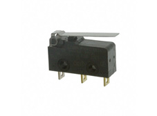 Snap Acting Switch, Subminiature, Flat Lever Actuator