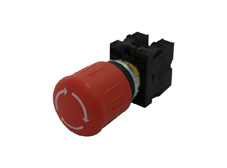 M22 Emergency Stop Pushbutton, Latching, Twist Release