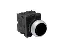 M22 Momentary Black Push Button Switch