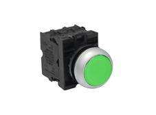 M22 Momentary Green Push Button Switch