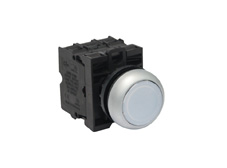 M22 Momentary White Push Button Switch