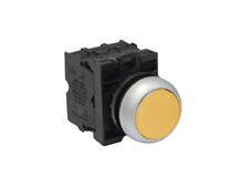 M22 Momentary Yellow Push Button Switch