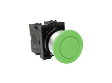 M22 Momentary Green 36mm Ø Mushroom Switch