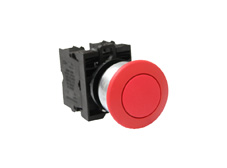 M22 Momentary Red 36mm Ø Mushroom Switch