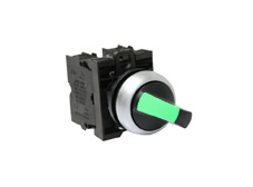 M22 Illuminated Selector Switch, Green LED