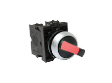 M22 Illuminated Selector Switch, Red LED