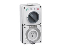 3 Pin 15A 240V Switched Socket Combination