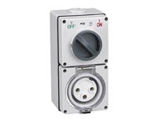 3 Pin 20A 240V Round Pin Switched Socket Combination