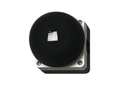 Palm (mushroom) switch, black/grey, 1N/O, 1N/C momentary