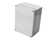 DSE Hi Box 250mm x 175mm x 75mm Enclosure Grey Polyester  Plastic Base and Lid