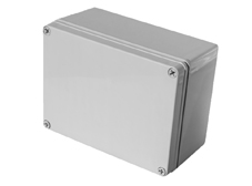 DSE Hi Box 190mm x 380mm x 130mm Enclosure Grey ABS Plastic  Body and Lid
