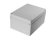 DSE Hi Box 100mm x 100mm x 100mm Enclosure Grey ABS Plastic  Body and Lid