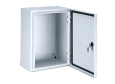Metal Enclosure 600 x 600 x 300mm IP66 with Gland Plate