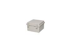 DSE Hi Box 150mm x 150mm x 90mm Draw Latch Enclosure Grey Polyester Base & Lid.