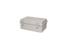 DSE Hi Box 270mm x 170mm x 110mm Draw Latch Enclosure Grey Polyester Base & Lid.