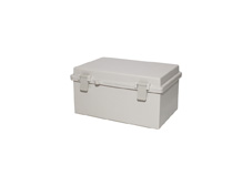 DSE Hi Box 290mm x 190mm x 140mm Draw Latch Enclosure Grey Polyester Base & Lid.