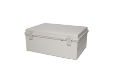DSE Hi Box 300mm x 250mm x 180mm Draw Latch Enclosure Grey Polyester Base & Lid.