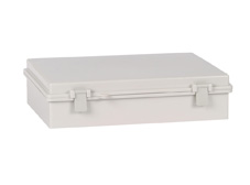 DSE Hi Box 290mm x 190mm x 100mm Draw Latch Enclosure Grey Polyester Base & Lid.