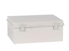 DSE Hi Box 190mm x 290mm x 100mm Draw Latch Enclosure Grey Polyester Base & Lid.