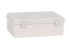 DSE Hi Box 465mm x 350mm x 160mm Draw Latch Enclosure Grey Polyester Base & Lid.