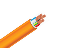 4 Core + Earth 35mm Orange Circular Cable