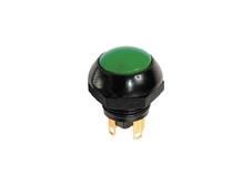 Sealed Flush Dome Momentary Double Pole Pushbutton Green