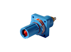 Blue 400A Panel Drain Powerline Connector