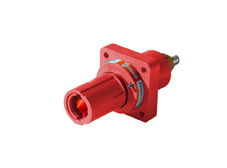 Red 400A Panel Drain Powerline Connector