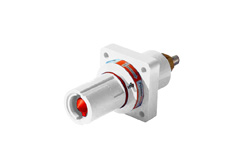 White 400A Panel Drain Powerline Connector