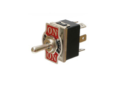 Power Toggle Switch Panel Mount, Double Pole Double Throw, On-Off-On