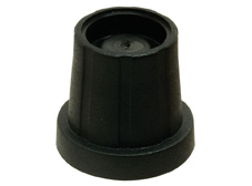 15mmØ x 18.2mm high Black Knob (Plain), 1/4