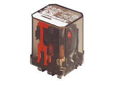Power Relay 3 C/O 12VDC 16A, plain Cover, AMP Faston 187