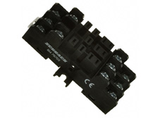Socket with screw type terminal black 11 pole