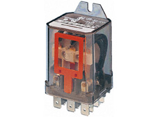 Power Relay 2 C/O 25VDC 25A, cover with mount.brackets