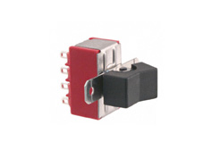 Miniature Rocker Switch 4 Pole Double Throw, On-On
