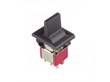 Miniature Rocker Switch 4 Pole Double Throw, On-Off-On